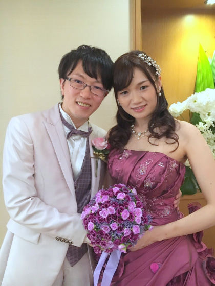ミルフェリーチェウェディング 出張ヘアメイク 帝国ホテル 花嫁髪型 カラードレス ハーフアップ