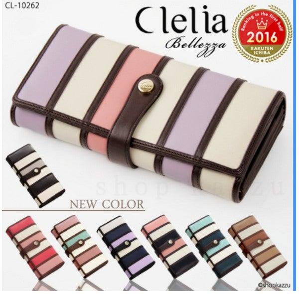 09fefae8a120 ... を残し、他とは一味違った商品を提供し続ける最新鋭のブランド「Clelia-クレリア-」から、ポップでお洒落な色使いと高い収納力が特徴のマルチカラー  長財布 です!