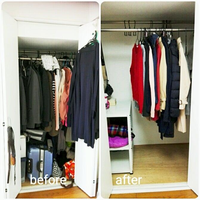 ef49581a88 着たい服がすぐに見つからなかったクローゼット。何年も使っていない服やカバンを手放し、選びやすく、5分あれば衣替えができるクローゼットを実現しました  キラキラ