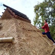 茅葺き屋根の葺き替え…