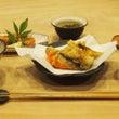 天ぷらと海老のグリル