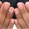 シンプルフレンチ&ホロお花アートネイル♡の画像