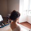 #結婚式ヘアスタイル 波ウエーブのシニヨンの画像