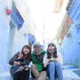 「モロッコ、青の街シ…