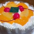 記念にケーキとマフラ…