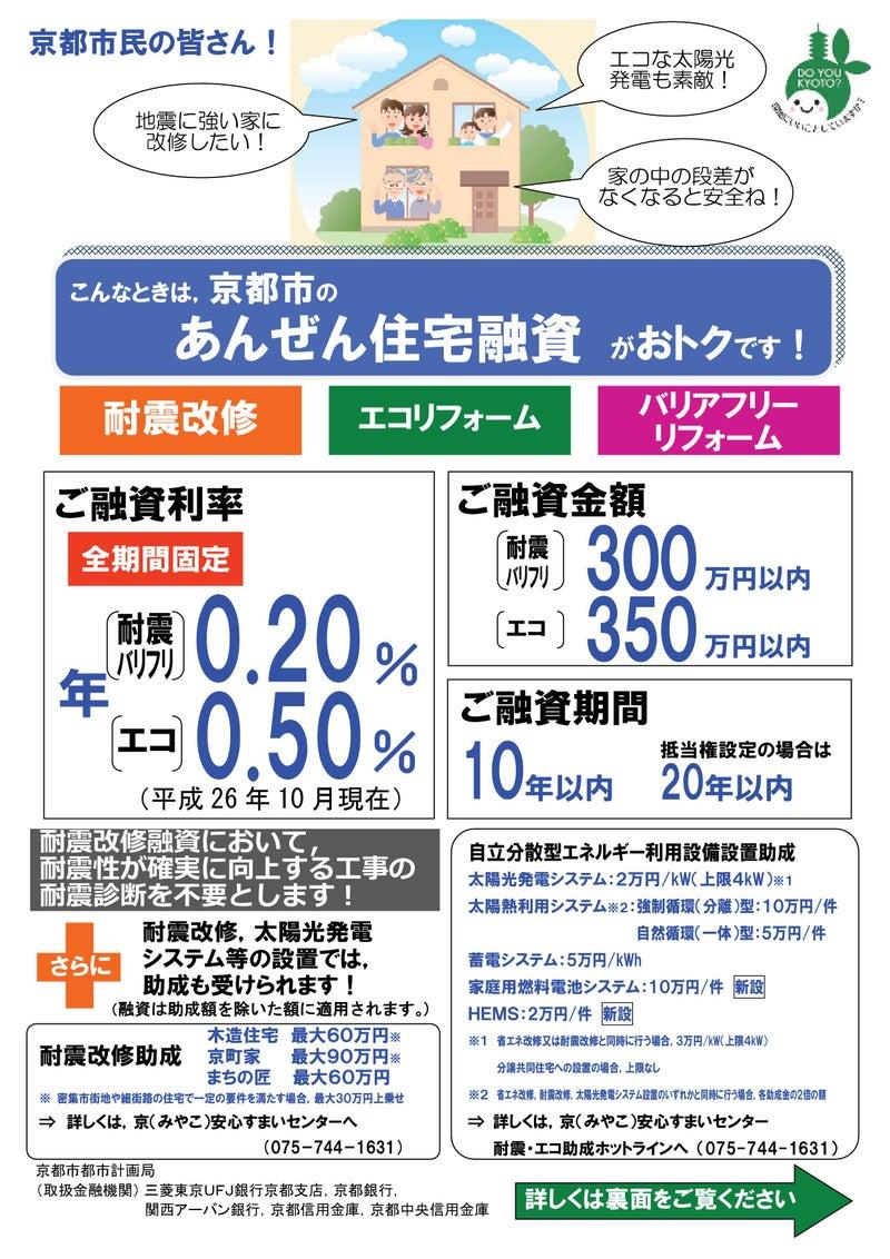 京都市のあんぜん住宅融資 金利0.2%