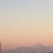 朝日と龍雲とUFOと…