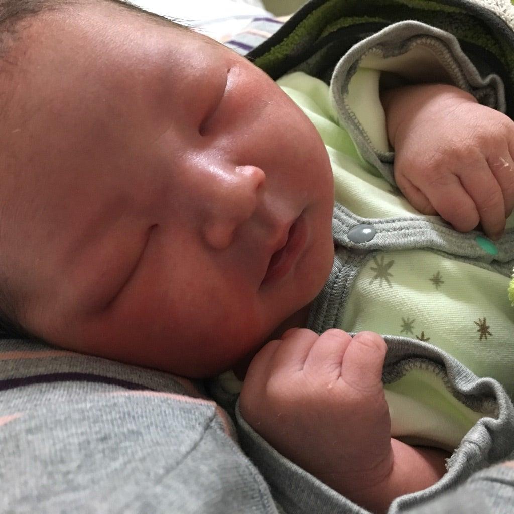 先日ご紹介させて頂いた妊婦さまよりご出産報告をいただきました!
