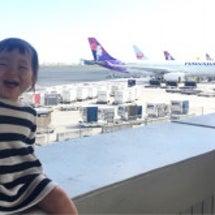 子連れハワイの飛行機