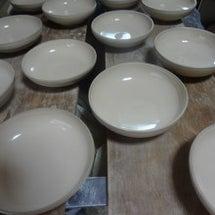 浅鉢の水挽き