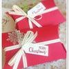 クリスマスラッピングに!ピローボックスを飾って。手作り販売品にもオススメ!の画像