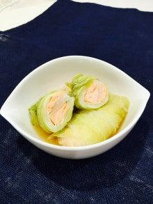 【腎臓病レシピ】鮭のロール白菜