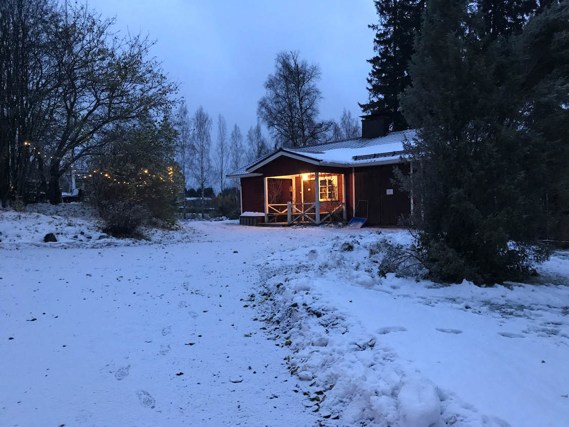 初雪のフィンランド!の記事より