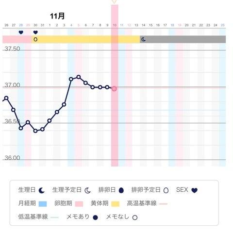Pチェック 高温期10日目 フライング