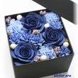 青いフラワーBOX