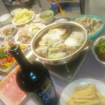 昨夜の鍋パーティー