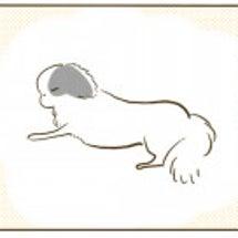 文鎮化する愛犬と寝れ…