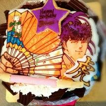 バースデーケーキは花…