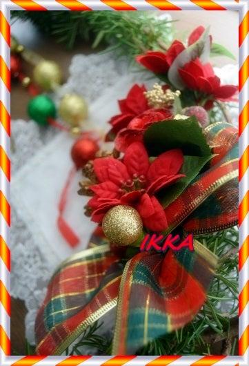 ローズマリー エコ リース クリスマス 玄関