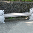 フクロウのベンチ