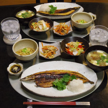 秋刀魚の開きの晩ごは…