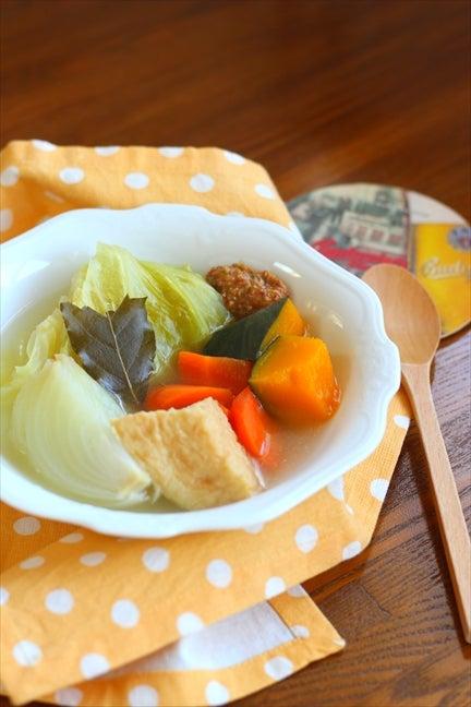お野菜たっぷりべジポトフ ~味噌マスタードソースで~