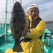 「ヒラメ釣りへ出船し…
