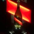 勝者を祝うシャンパン…