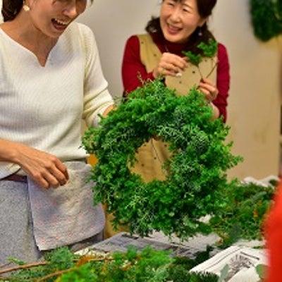 2018年東京銀座クリスマスレッスン ~クリスマスリースなど~の記事に添付されている画像