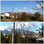 浅間山、白っ!