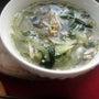 わかめスープ+サバの…
