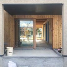 木製建具in玄関
