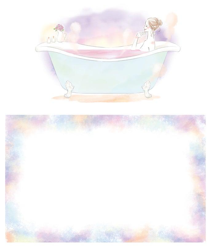 美容雑誌rosy 12月号バスタイム企画イラスト イラストレーター