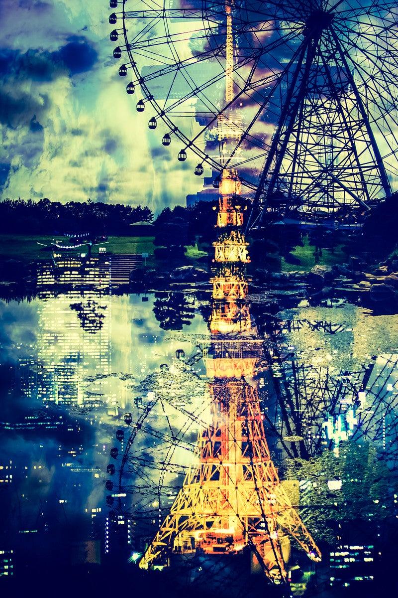 東京タワーのフォトモンタージュ...
