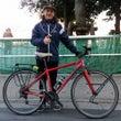 フランスから自転車で…