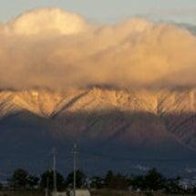 比良山系で初冠雪