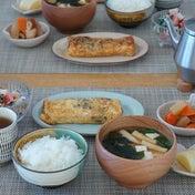常備菜で朝ごはん