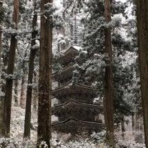 国宝の雪景色