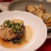 ★ ねぎポン酢で牡蠣シイタケ合せ焼き