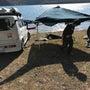 西湖で家族キャンプ