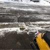 今年初めての雪かきの画像
