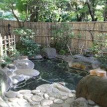 野天風呂の景色を撮っ…