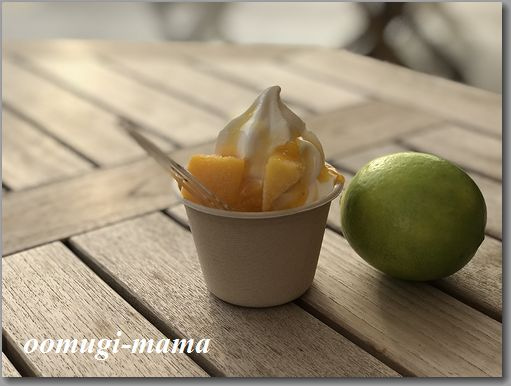 瀬戸内レモンとマンゴーソフト