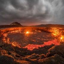 エチオピア 溶岩の湖