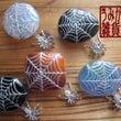 蜘蛛の巣と蜘蛛の帯留…