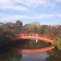秋の神泉苑。