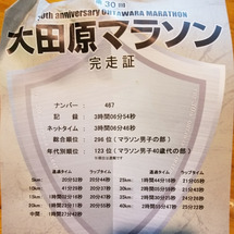 大田原マラソンの速報