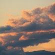 雲が多い今日の夕焼け