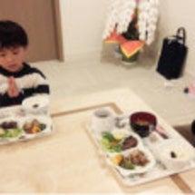 二人は晩御飯