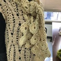 連続モチーフ編みのマ…